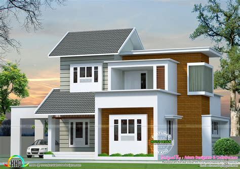 simple modern house october 2016 kerala home design and floor plans