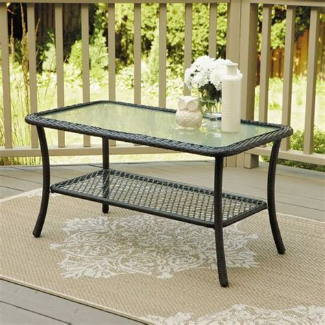 mainstays logan coffee table mainstays wicker coffee table walmart ca garden