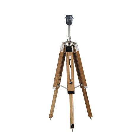 wooden tripod table l natural wood tripod table l base by quirk