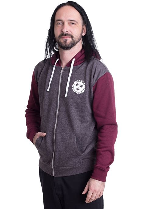 Zipper Withechapel Black whitechapel jaws charcoal burgundy zipper impericon