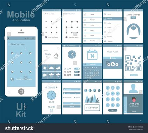 application design concepts mobile application interface concept vector illustration