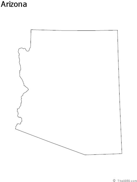 arizona state map outline the us50 view the blank state outline maps