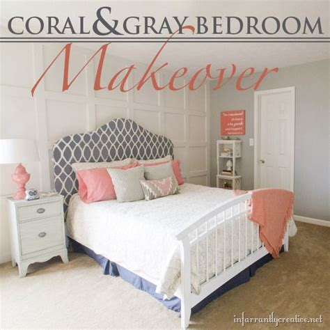 gray and coral bedroom ideas coral gray bedroom makeover room reveal