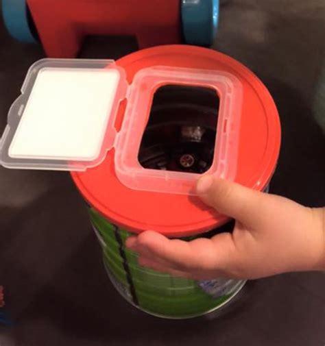 Paket Toddler formula milk powder tin baby wipes packet lid