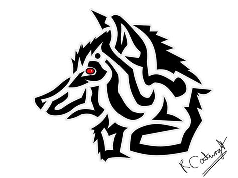more tribal wolf head tattoo designs tribal ideas