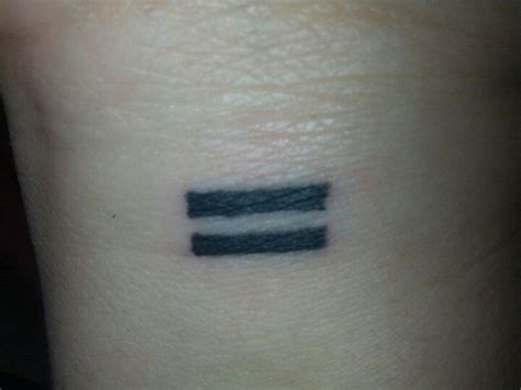 equality sign tattoo equal symbol www pixshark images galleries