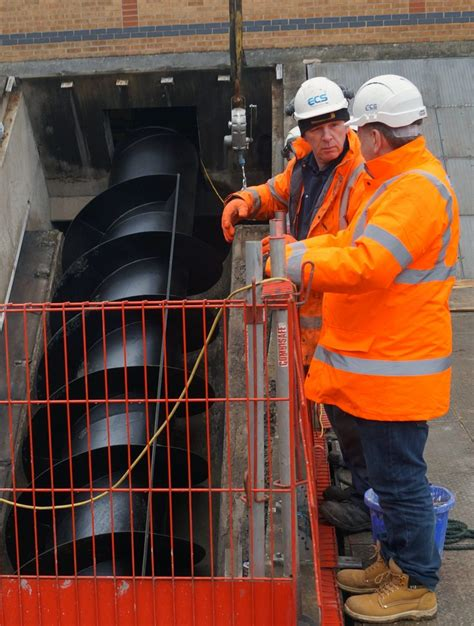 mansfield archimedes screw pumps boost local water infrastructure ecs engineering services