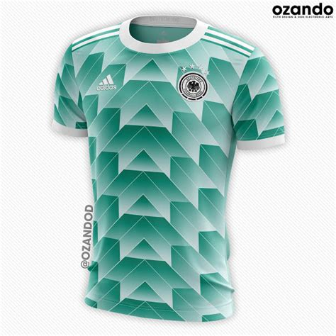 Jersey Kid German Away adidas germany 2018 world cup home away concept kits by