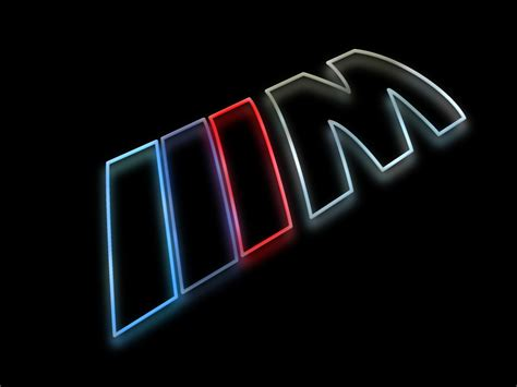 logo bmw m bmw m logo as a colorful silhouette rendering with a glow