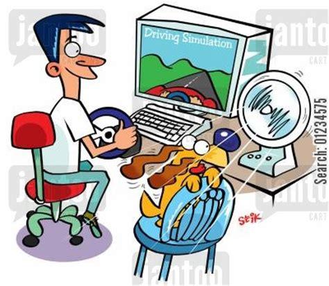 fish computer game cartoon computer games cartoons humor from jantoo cartoons