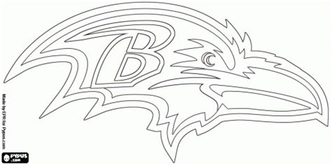 Baltimore Ravens Coloring Pages baltimore ravens logo american football team in the division afc baltimore maryland