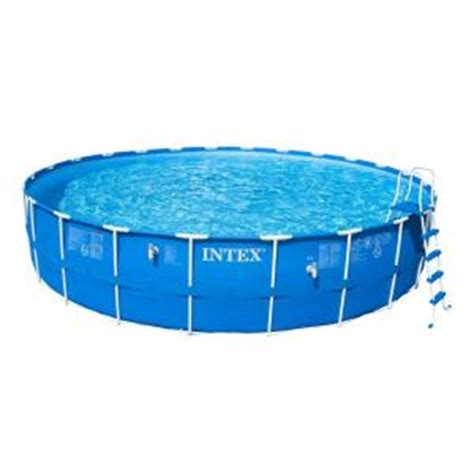 intex 24 ft x 52 in metal frame above ground
