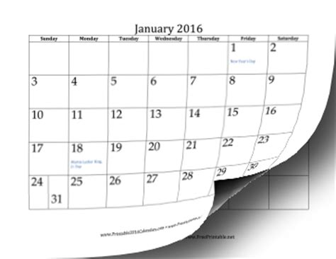 printable calendar 2016 full page printable 2016 calendar 12 pages
