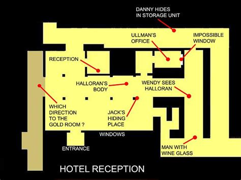 layout of the stanley hotel the shining 1979 analysis by rob ager