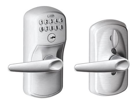 Schlage Fe595ply626jaz Satin Chrome Plymouth Keypad Entry Interior Keypad Door Lock