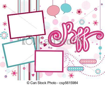 dessin de cadre bff illustration de a cadre