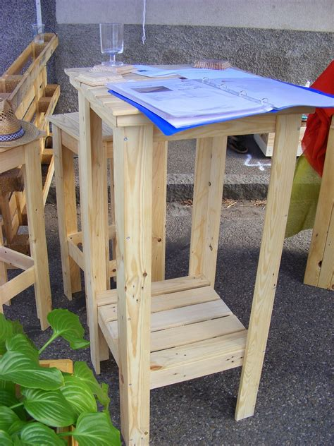 Mange Debout Palette by Un Mange Debout En Bois De Palettes Recycl 233 Es Mobilier