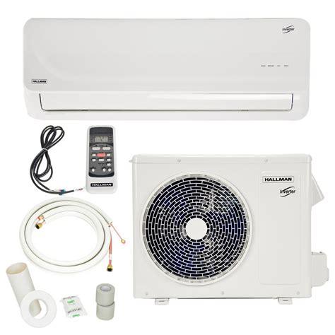 mini split air conditioners ductless mini split heat pumps hallman 12 000 btu 1 ton ductless mini split air