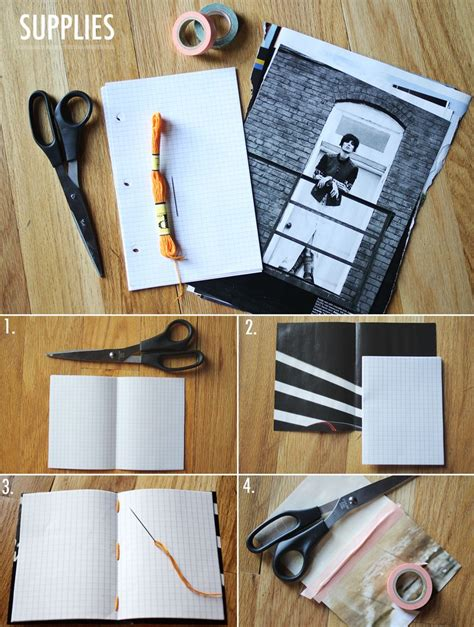 diy journal lovely mess mini magazine notebook diy