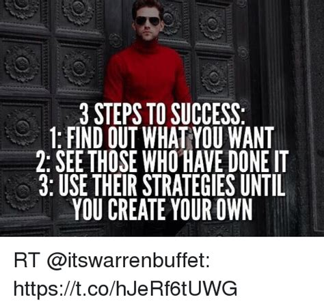 Use Your Own Picture Meme - 3 steps to success 1 find out what you want 2 see those