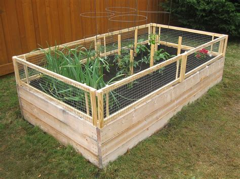 elevated garden beds diy diy screened raised garden bed