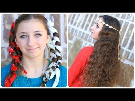 easy overnight hairstyles for school no heat bandana curls overnight hairstyles