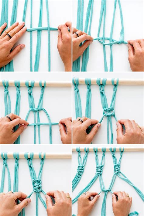 How To Tie A Macrame Square Knot - chi chi handmade diy macrame pot hanger tutorial