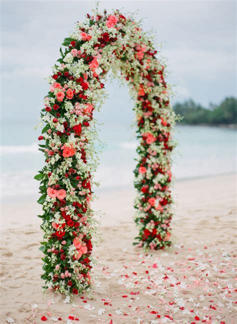 stuning wedding arches  lots  flowers deer