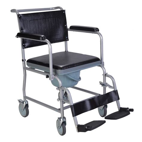 Commode Chair by Mobile Wheeled Glideabout Commode Chair Wheelchair With