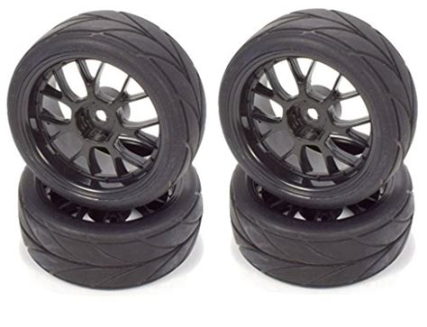 Rubber Tire Tyre 110 Onroad Touring Car 6085 F Hsp Hpi Kyosho Tamiya apex rc products 1 10 on road 12mm black mesh wheels v