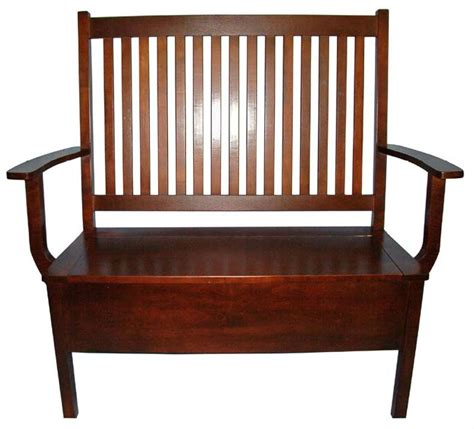 Shaker Bench with Storage   Fine Oak Things