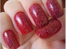 Simple Red Wedding Nail Art Designs & Ideas 2014 ... French Tip Nail Designs With Glitter