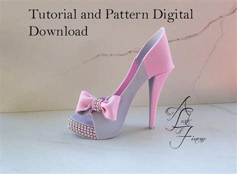 high heel shoe cake template pdf tutorial and pattern fondant high heel fondant shoe