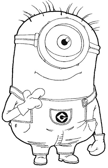 coloring pages of minions from despicable me one eyed minion coloring pages