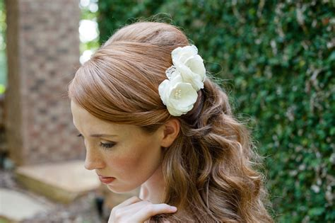 wedding hair with flowers bridal hair accessories