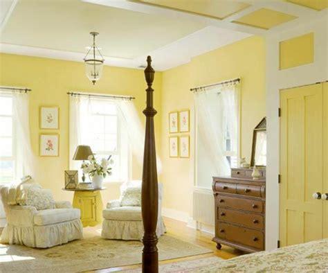 Gelbe Und Braune Wohnzimmer Ideen by Gelbe Farbgestaltung Im Schlafzimmer 24 Fotos
