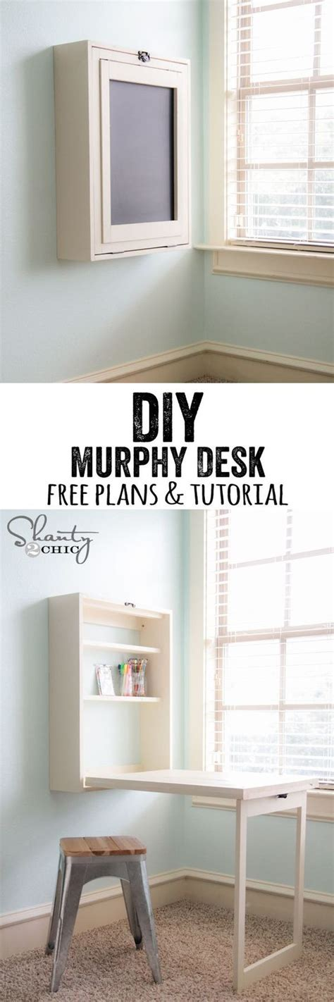 Diy Desk With Storage Diy Murphy Desk Diy Computer Desk Murphy Desk And Diy Desk