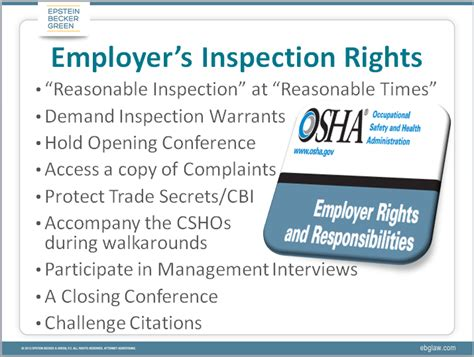 what are employers rights during osha inspections osha