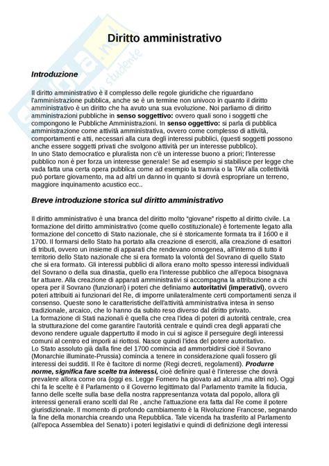 dispensa diritto amministrativo lezioni appunti di diritto amministrativo