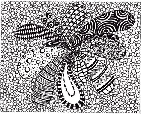 zendoodle coloring pages easy zentangle inspired abstract art print ink drawing zendoodle