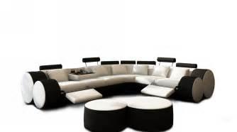 Black And White Sectional Sofas 3087 Modern White And Black Leather Sectional Sofa And Coffee Table