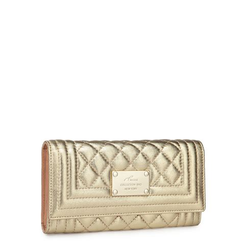 Walet Gold suede wallet gold