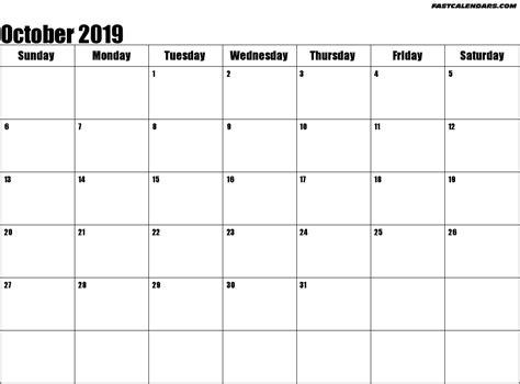 october  calendar cute printable year calendar