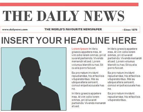 online newspaper template design format newspaper