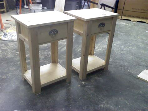 Easy Nightstand Plans white simple nightstand diy projects