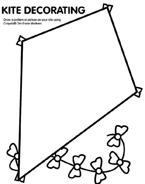 coloring pages with kites kite coloring page visual closure pinterest kites