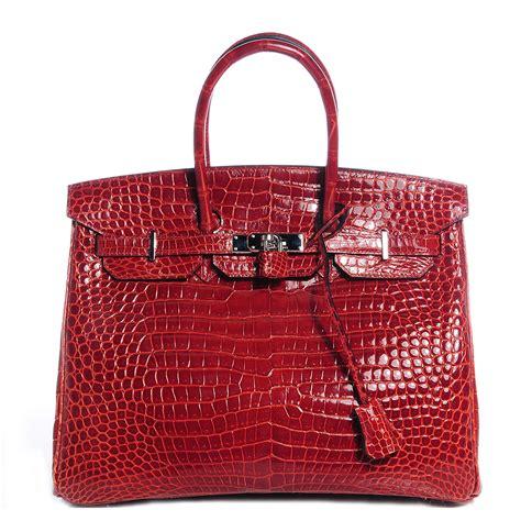 Did You Fact On Hermes Alligator Bag by Hermes Shiny Porosus Crocodile Birkin 35 H 73253
