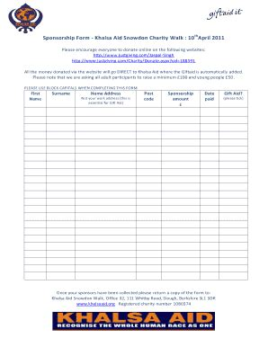 sponsor form for snowdon fill online printable