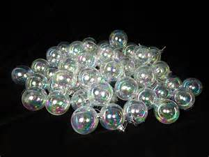 60ct clear iridescent shatterproof christmas ball