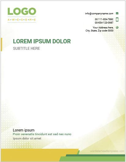 letterhead templates word  format microsoft